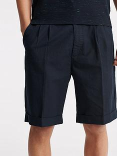 superdry-edit-pleat-chino-shorts-navy