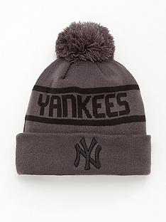 new-era-new-york-yankees-knit-bobble-hat-greyblack