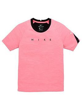 nike-junior-academy-football-short-sleeved-tee-pink