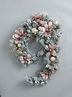 frosted-rose-pre-lit-swag-christmasnbspgarland