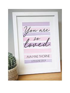 personalised-you-are-so-loved-print-in-frame