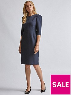 dorothy-perkins-short-sleeve-dress-navy