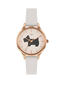 radley-radley-white-and-navy-dog-detail-dial-white-leather-strap-ladies-watch