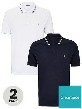 very-man-essentials-essentials-tipped-pique-polo-shirt-2-pack-multi