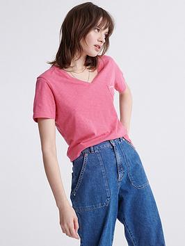 superdry-orange-label-essential-v-neck-t-shirt-pink