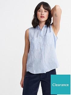 superdry-aubrey-shirt-blue