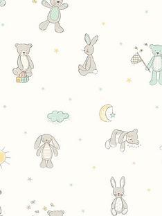arthouse-bear-hugs-mint-wallpaper