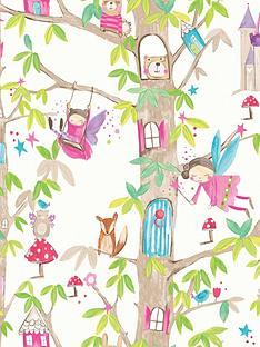 arthouse-woodland-fairies-white-wallpaper