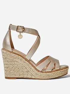dorothy-perkins-rolly-ankle-wedge-gold