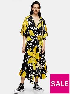 topshop-boutique-lily-drawstring-midi-dress-multi