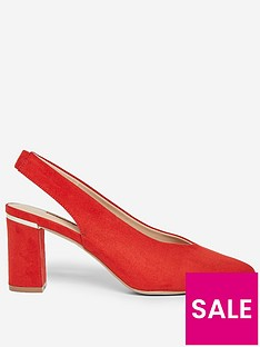 dorothy-perkins-emily-court-shoe-orange