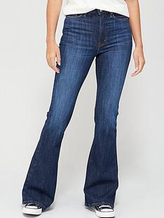v-by-very-forever-flare-high-waistnbspjean-dark-wash