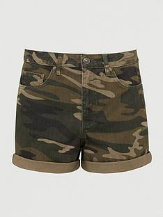 v-by-very-mom-denim-short-camouflage-print