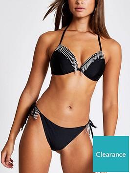 river-island-diamante-fringe-moulded-bikini-top-black