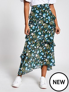 river-island-front-ruffle-midi-skirt-black