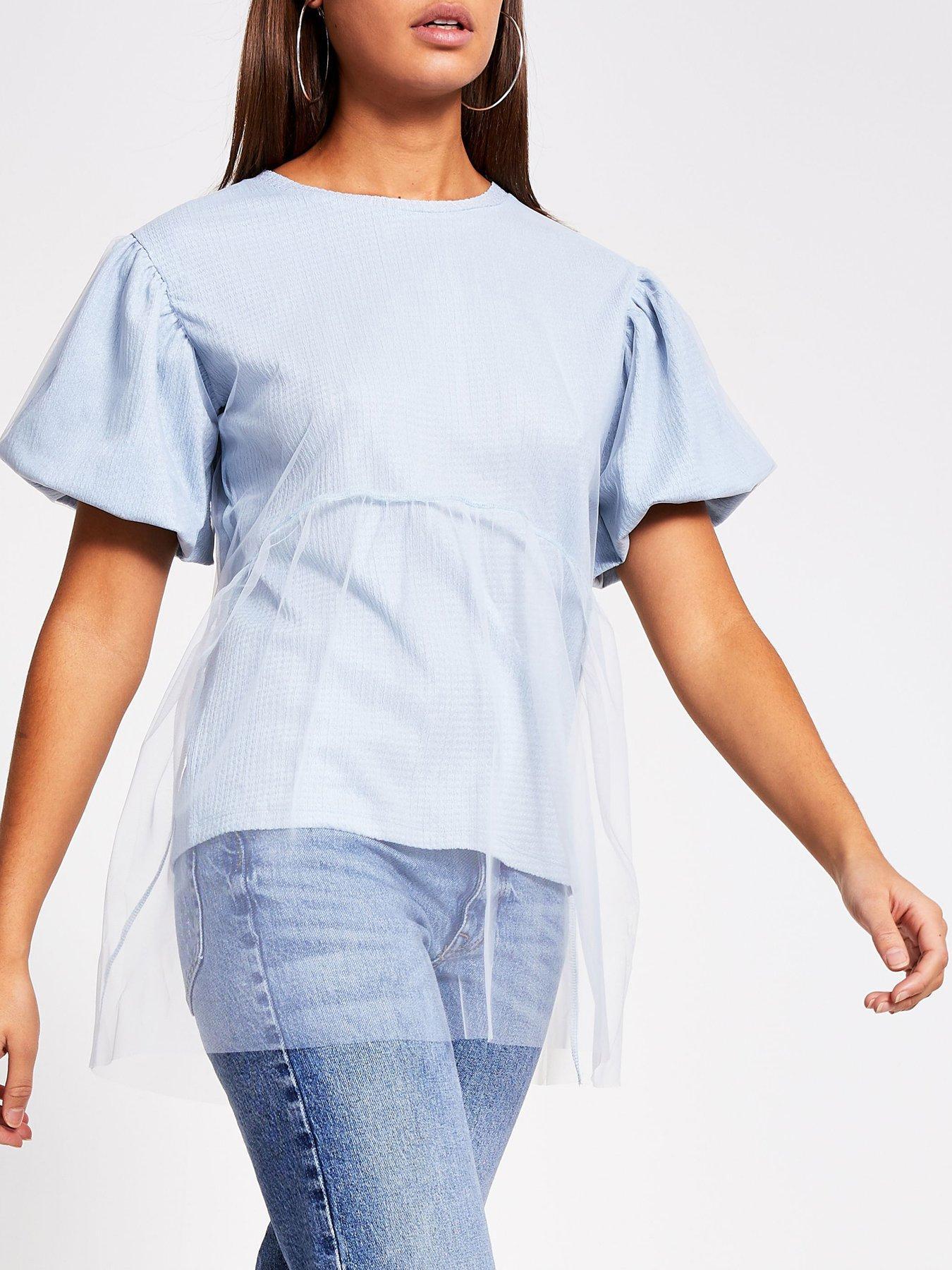 river island mesh t shirt