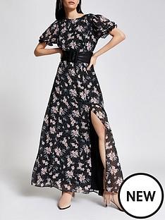 river-island-floral-chiffon-midaxi-dress-black
