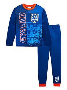 england-boys-football-long-sleevednbsppyjama-set-blue