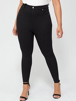v-by-very-curve-power-stretch-sculpting-high-waistnbsptrousers-black