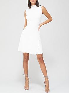v-by-very-compact-knit-skater-dress-white