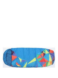 mummy-shaped-blue-sleeping-bag
