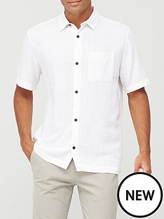 river-island-short-sleeved-linen-shirt-white