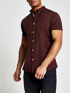 river-island-short-sleevenbspoxford-shirt-berry