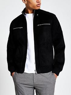 river-island-suedette-perforated-racer-jacket-black