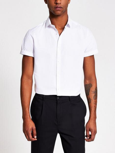 river-island-short-sleeved-shirt--nbspwhite