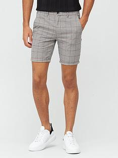 river-island-check-vienna-short-grey