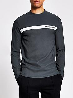 river-island-long-sleeve-maison-chest-insert-tee-black