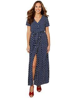 joe-browns-polka-dot-wrap-dress