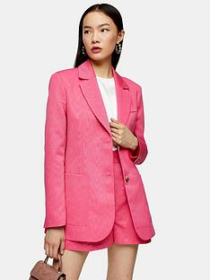 topshop-moire-oversized-blazer-pink