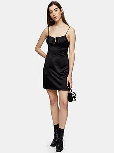 topshop-tie-bustier-mini-slip-dress-black