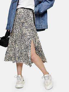 topshop-contrast-zebra-pleat-midi-skirt-mono