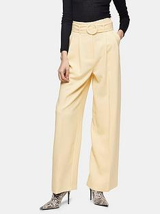 topshop-hannah-marl-wide-leg-trousers-cream