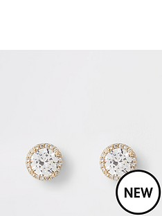 river-island-river-island-cubic-zirconia-stone-stud-earrings-gold