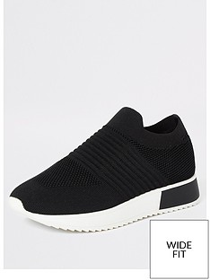 river-island-wide-fit-knit-runner-trainer-black