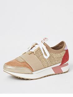 river-island-woven-elasticated-runner-trainers-beige