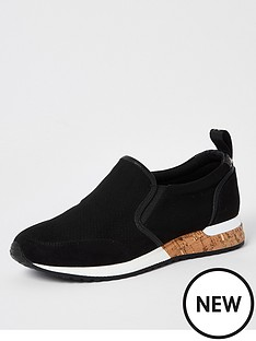 river-island-perforated-cork-runner-black