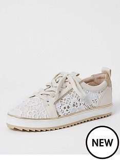 river-island-lace-detail-trainer-white