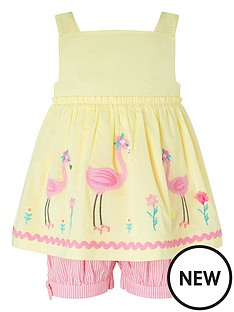 monsoon-sew-baby-girls-fifi-flamingo-set-yellow