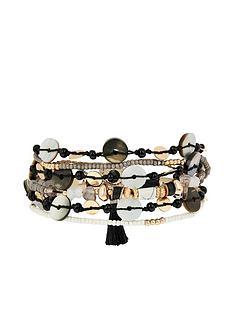 accessorize-mixed-shell-multi-row-bracelet-multi