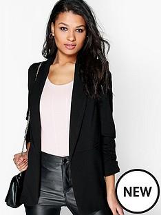 boohoo-boohoonbspruched-sleeve-blazer-black