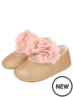 monsoon-baby-girls-abilene-corsage-glitter-bootie-rose-gold