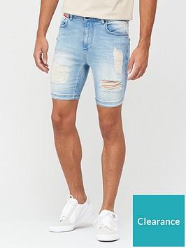 11-degrees-rip-and-repair-skinny-denim-shorts-stone-wash