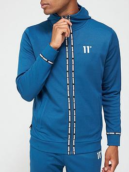 11-degrees-maize-pique-repeat-binding-full-zip-hoodie-bluenbsp