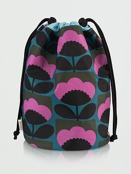 orla-kiely-spring-bloom-barrel-wash-bag