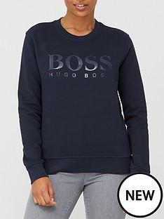 boss-logo-crew-sweat-top