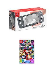 nintendo-switch-lite-nintendo-switch-lite-grey-console-with-mario-kart-8-deluxe